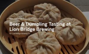 dumplings and beer